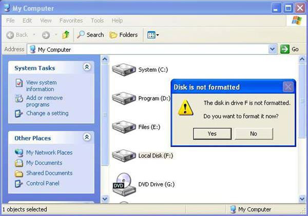disk-is-not-formatted